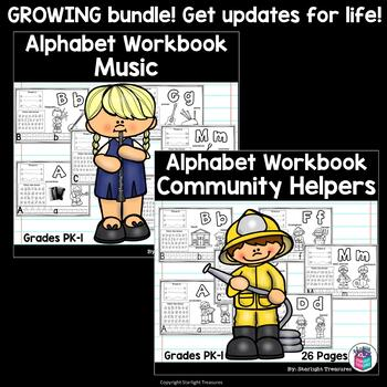 Alphabet Workbook Bundle: GROWING - All Themes for the Year