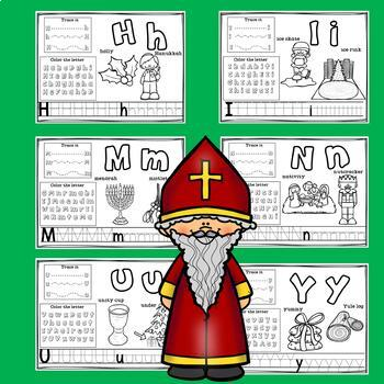 Alphabet Workbook: Worksheets A-Z Christmas Around the World