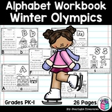 Alphabet Workbook: Worksheets A-Z Winter Olympics 2018