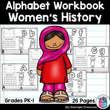 Alphabet Workbook Worksheets A Z Women S History Month