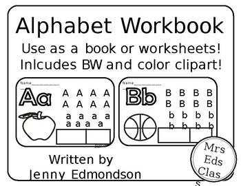 Alphabet Workbook and Clipart