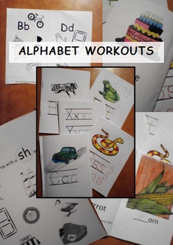 Alphabet Workouts - letter/sound reading + handwriting