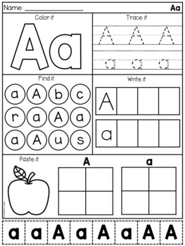 Alphabet Worksheet Bundle - Letter Work and Beginning ...