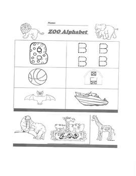 Alphabet Worksheet Packet