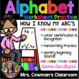 Alphabet Worksheet Packet: Letter Practice