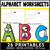 Learn the Alphabet Drawing Worksheets