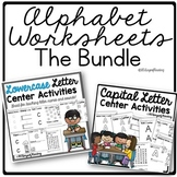 Alphabet Worksheets Games and Activities for Preschool or Kindergarten Centers