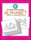 "Alphabet Worksheets in Black/White - 8.5""x11"""