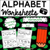 Alphabet Worksheets A-Z Level 2