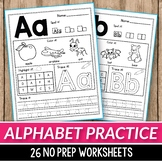 Alphabet Worksheets A-Z Alphabet Letter Practice, Handwriting Practice Sheets