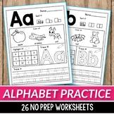 Alphabet Worksheets A-Z Beginning Sounds coronavirus packet distance learning
