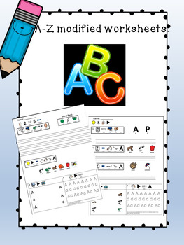 Alphabet Worksheets (ABC's) for Special Education