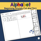 Alphabet Worksheets Beginning Sounds Cut and Paste