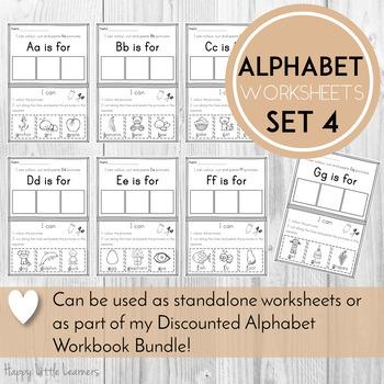 Alphabet Worksheets Color, Cut and Paste