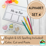 Alphabet Worksheets Color, Cut and Paste