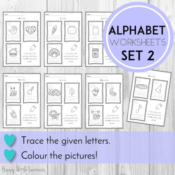 Alphabet Worksheets Color and Trace Frames