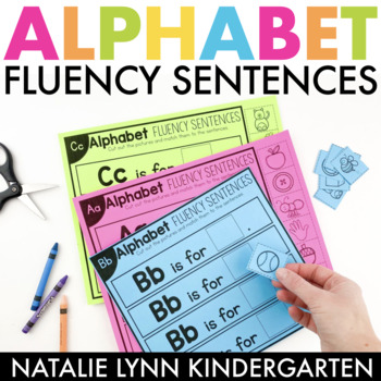 Alphabet Worksheets: Cut & Glue Fluency Sentences