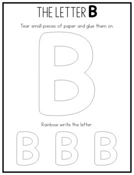 Alphabet Worksheets: Fine Motor Activity