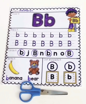 Alphabet Worksheets For Kindergarten by Nastaran | TpT