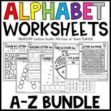 Alphabet Worksheets BUNDLE