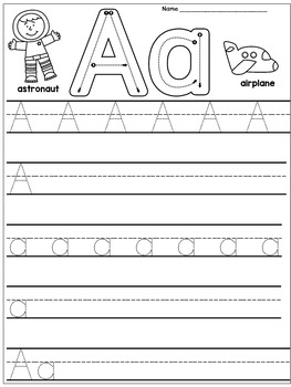 kindergarten handwriting practice alphabet by dana 39 s wonderland. Black Bedroom Furniture Sets. Home Design Ideas