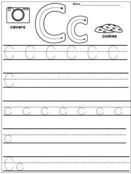 Kindergarten Handwriting Practice (Alphabet)