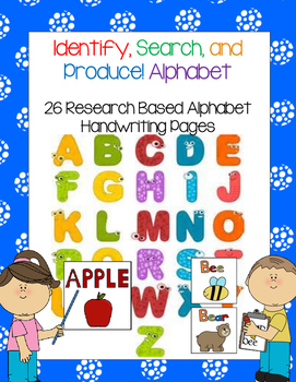 Alphabet Worksheets: Identify, Search, and Produce