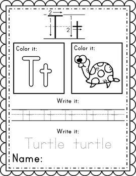 Alphabet Worksheets Instant Download PDF; Preschool, Kindergarten, School