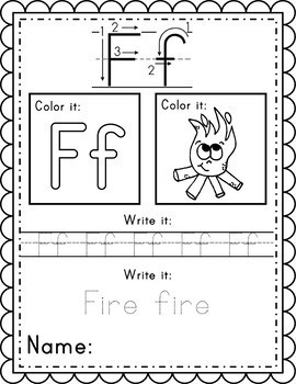 Alphabet Worksheets Instant Download PDF; Preschool ...