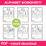 Alphabet Worksheets Instant Download PDF; Preschool, Kinde