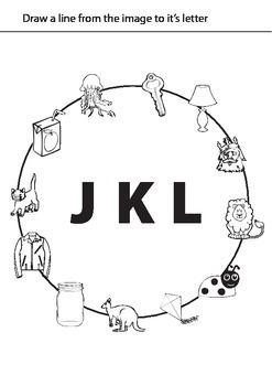 Alphabet Worksheets: JKL