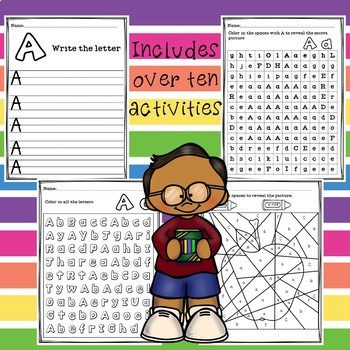Alphabet Worksheets - Letter A