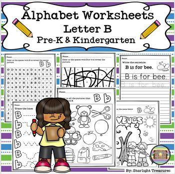 Alphabet Worksheets - Letter B