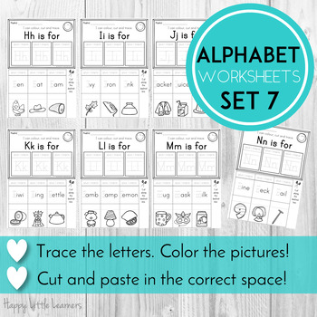Alphabet Worksheets Letter Flip Pages