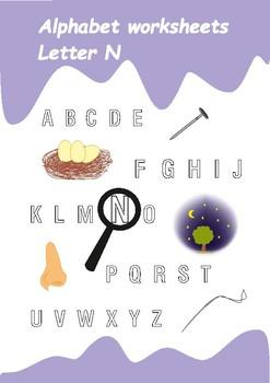 Alphabet Worksheets Letter N