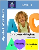 Alphabet Worksheets: Letter Names and Sounds (OG)
