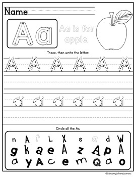 Alphabet Worksheets Letter Recognition Letter Sounds Letter Practice Worksheets