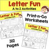 Alphabet Worksheets | Autism SPED Preschool Prek | Letter Recognition Bundle