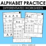 Alphabet Worksheets Letter Review Distance Learning