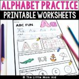 Alphabet Worksheets A-Z | Letters | Alphabet Practice PreK Kindergarten