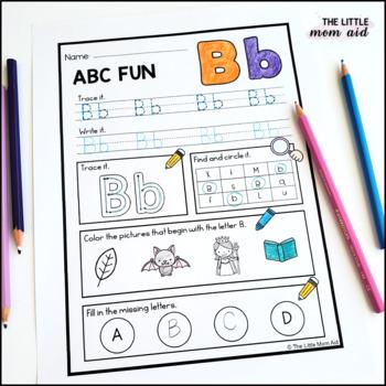 Alphabet Practice Pages | Letter Work | PreK Kindergarten