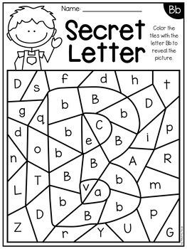 Alphabet Worksheets   Secret Letters   Distance Learning ...