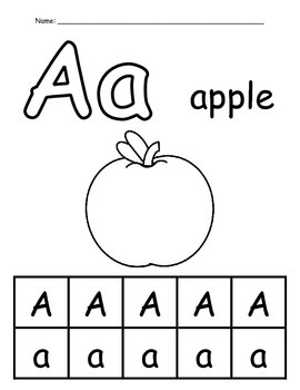 Alphabet Worksheets - Single Set - Level 1