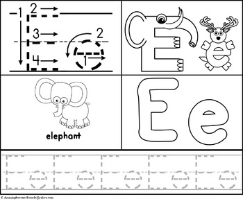 Alphabet Worksheets Trace and Color