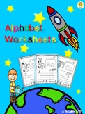 Alphabet Worksheets - Trace and Color