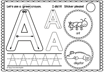 Alphabet Worksheets Upper Case