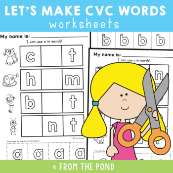 Alphabet Worksheets {Using Letters to Make Words}