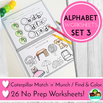 Alphabet No Prep Worksheets Workbook Bundle