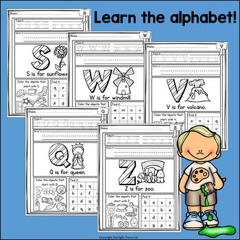 Alphabet Worksheets and Activities for Early Learners - Handwriting Practice