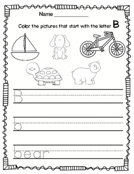 Alphabet Worksheets and Beginning Sounds